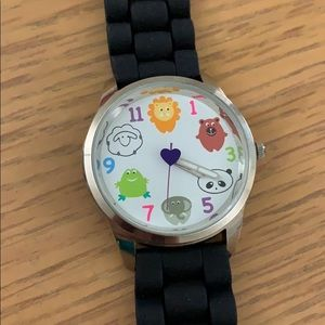 Justice Silicon Animal Face Watch